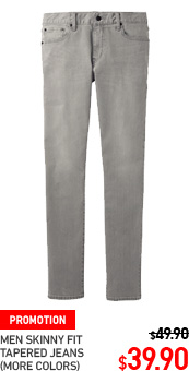 MEN SKINNY FIT TAPERED JEANS