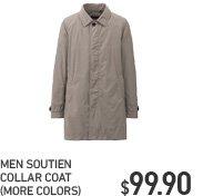 MEN SOUTIEN COLLAR COAT