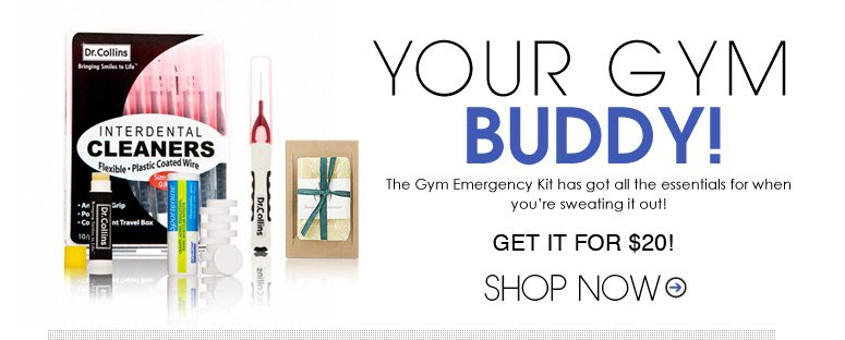 Your Gym Buddy The Gym Emergency Kit has got all the essentials for when you're sweating it out!  $44 value get it for $20! Shop Now>>
