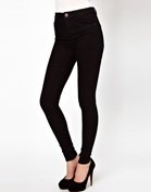 ASOS Ridley Supersoft Ultra Skinny Jeans in Clean Black