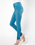 ASOS Ridley Supersoft Ultra Skinny Jeans in Washed Teal