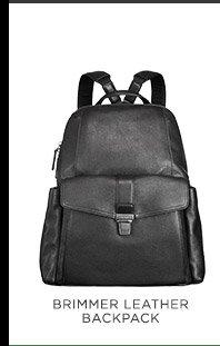 Brimmer Leather Backpack