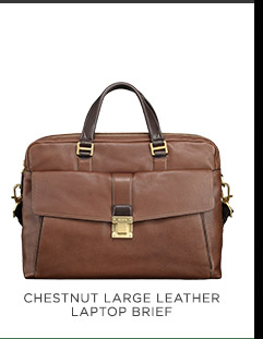 Chestnut Large Leather Laptop Brief