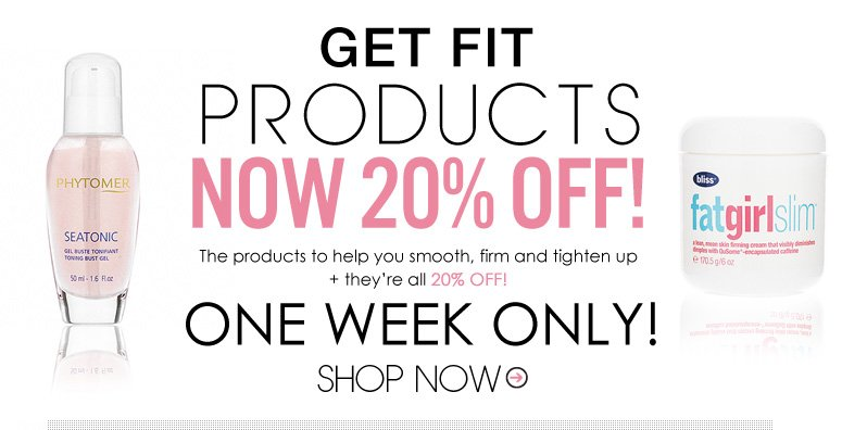 Get Fit Products now 20% Off! Let us help you shed those unwanted pounds with these amazing Get Fit Products—they're all 20% off!  *One Week Only! Shop Now>>