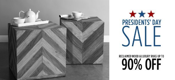 UP TO 90% OFF RECLAIMED WOOD & LUXURY RUGS, Event Ends February 21, 9:00 AM PT >