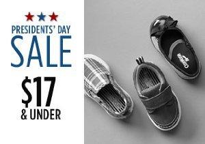 $17 & Under: Kids' Flats, Boots & More