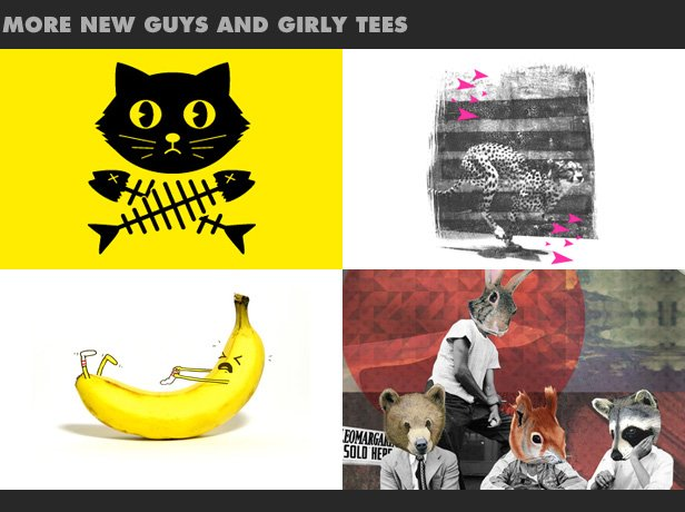 More new guys and girly tees.