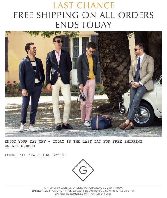 Last chance - FREE SHIPPING on all orders ends today
