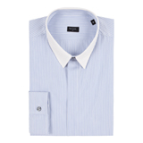 Paul Smith Shirts - Sky Blue Ticket Stripe Shirt