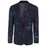 Paul Smith Jackets - Navy Floral Print Jacket