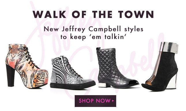 New Jeffrey Campbell Just in! Shop New Arrivals Now!