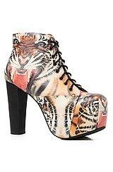 The Lita Shoe in Tiger Print