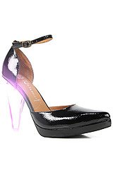 The Sterling Shoe in Black Patent and Lucite with LED Light