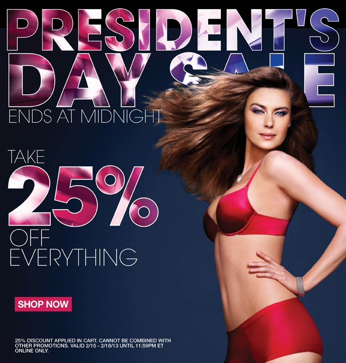 President's Day Sale Ends at Midnight: Take 25% Off Everything