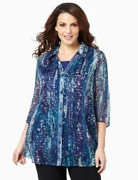 Blue Paintburst Duet Blouse