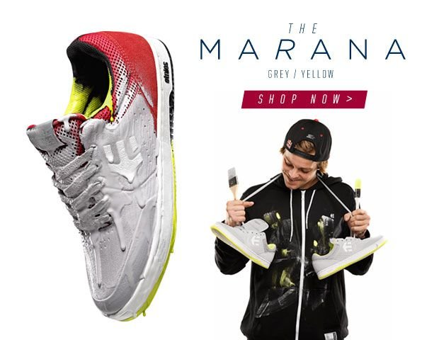 The etnies Marana in Grey/Yellow, available now!
