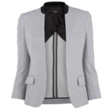 Paul Smith Jackets - Grey Summer Pique Buttonless Jacket