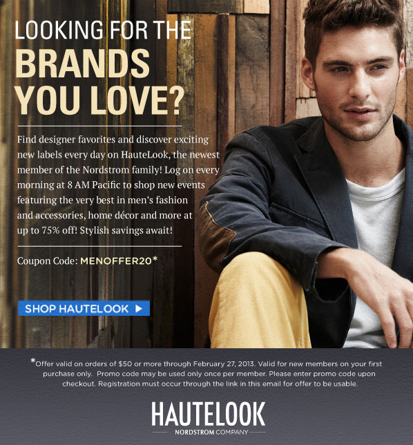 LOOKING FOR BRANDS YOU LOVE? SHOP HAUTELOOK