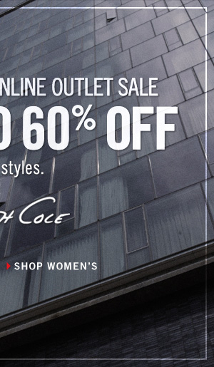 PRESIDENTS' DAY ONLINE OUTLET SALE GET UP TO 60% OFF SELECT STYLES // SHOP WOMEN'S