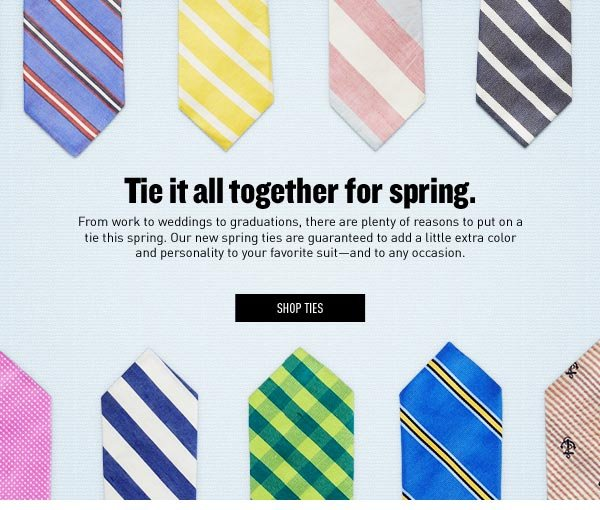 Tie it all together for Spring.