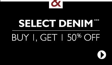 In Stores & Online: Designer Jeans BOGO 50% OFF