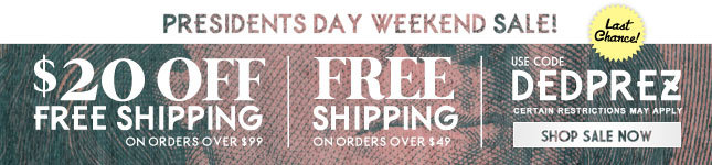 Last Chance! $20 Off + Free Shipping on orders over $99! Shop now before SALE ENDS!