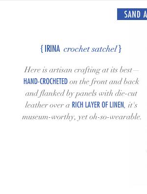 Irina Crochet Satchel