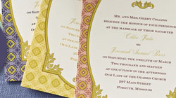Touch of Gold Invitation