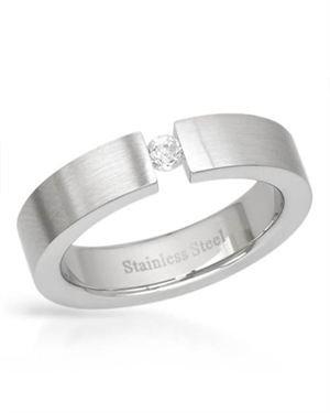 Men's Ring Metallic Stainless Steel