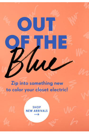 Zip into something new to color your closet electric!