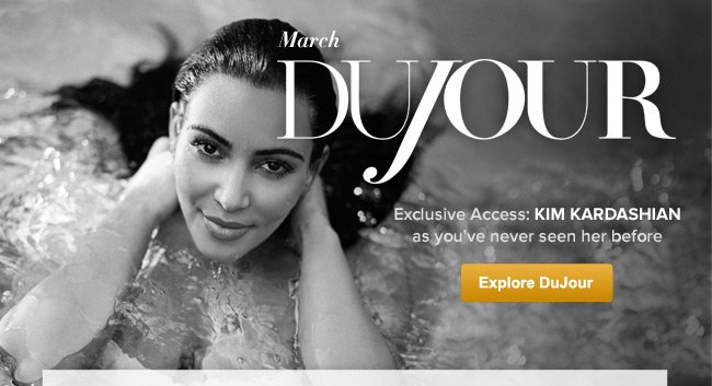 March DuJour- Exclusive Access: Kim Kardashian as you've never seen her before