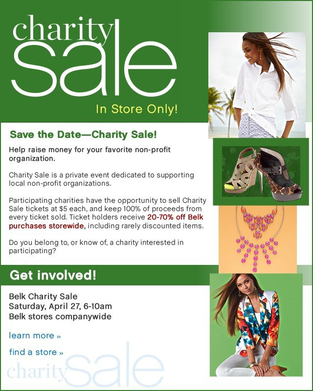 Chartity Sale In Store Only. Find a store.