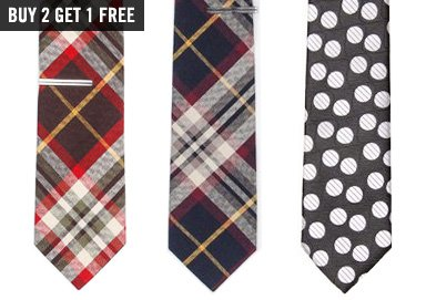 Shop Ties: Pops of Plaid & Stripes
