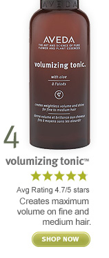 volumizing tonic. shop now.