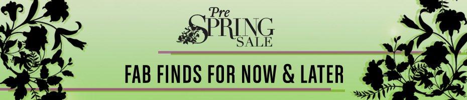 Pre-Spring Sale