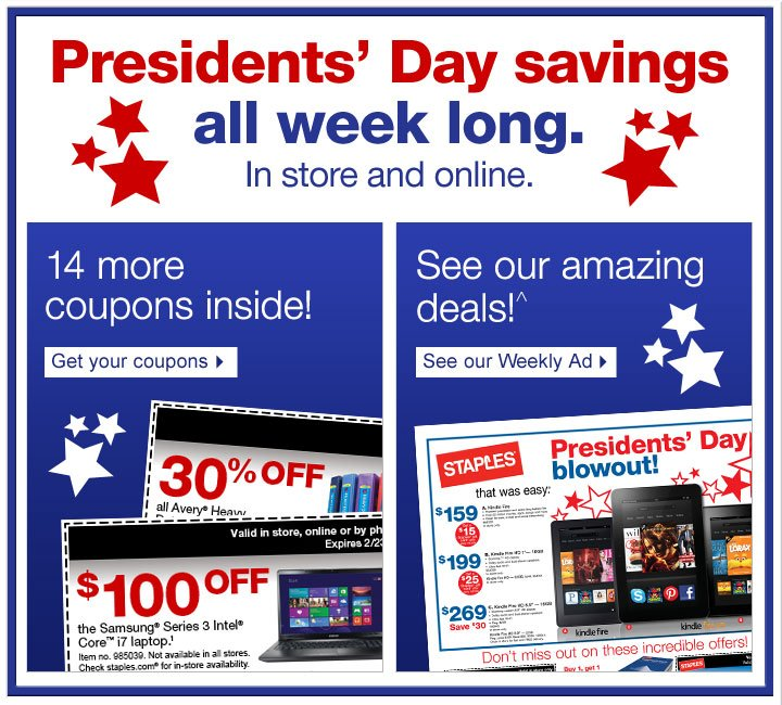 Stock  up and save on office essentials! See our Weekly Ad.  Dollar Days are  here! In store only. While supplies last. Each $1 and $2 item is limit 2  per customer unless otherwise noted.  Double recycling. Get $4 back in  Staples Rewards (2) per recycled cartridge (1) when you purchase $50 of  HP ink or any 2 HP toners (3). HP. Proven performance for superior  prints.^