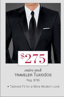 $275 USD - Traveler Tuxedos