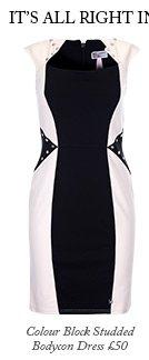 Colour Block Studded Bodycon Dress