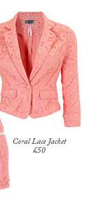 Lace Coral Jacket