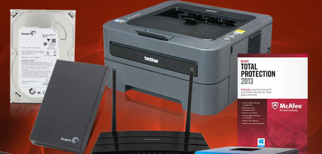 HDD, Router, Software, Printer