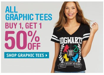BUY 1 GET 1 50% OFF GRAPHIC  TEES