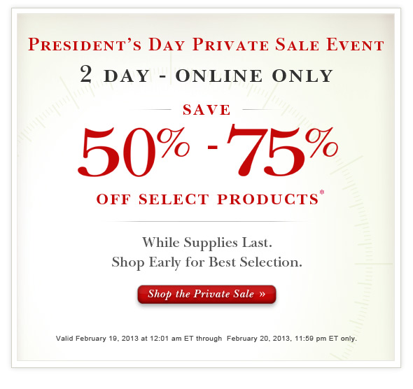 Shop The Private Sale Online Today.