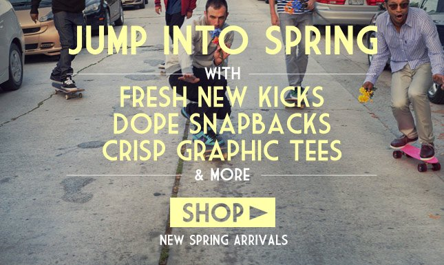 New Spring Arrivals are here. Load up on Hats, Tees, Sneaks and more! Shop New Arrivals on KL Today!