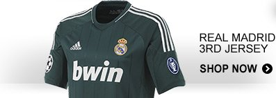 Shop Real Madrid 3 Jersey  »