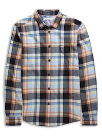Twill Flannel Check Cotton Shirt