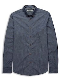 Indigo Dobby Cotton Shirt