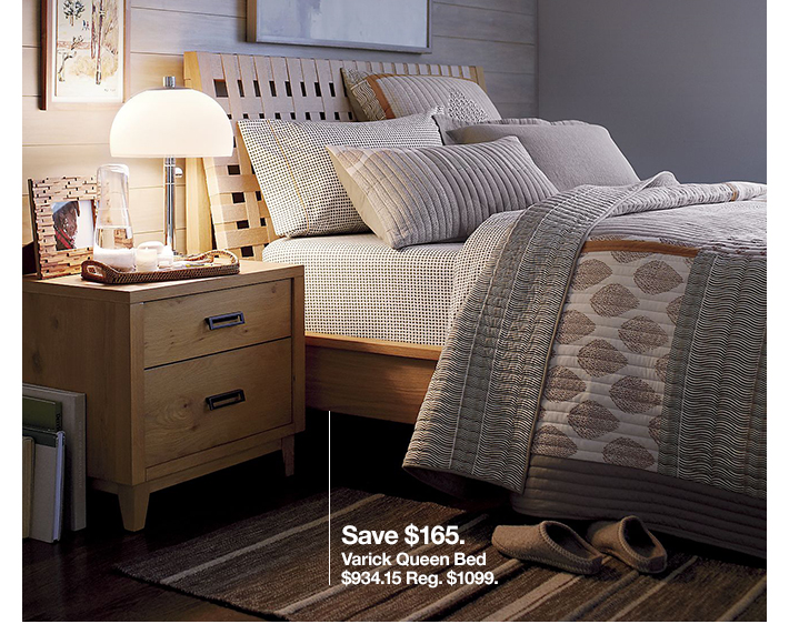 Save $165. Varick Queen Bed $934.15 Reg.  $1099.