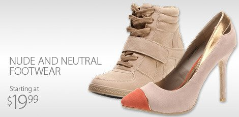 Nude and Neutral footwear
