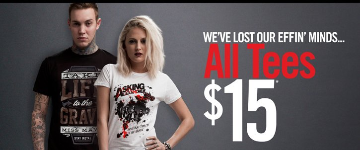 WE'VE LOST OUR EFFIN' MINDS... ALL TEES $15