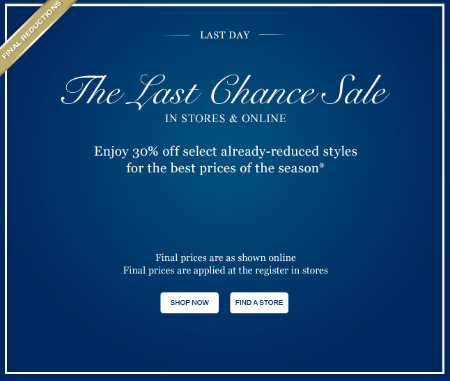 The Last Chance Sale